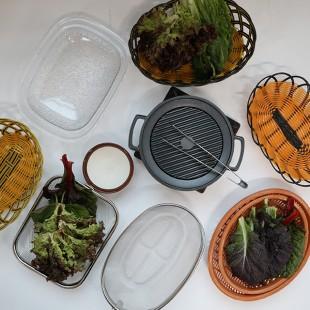 각종 고깃집 상추 야채 쌈 바구니 4종모음