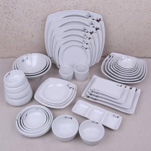 KDS 돌산 도라지 시리즈 멜라민 접시 탕기 대접 그릇 종지 모음