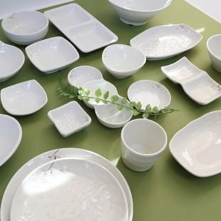 KDS 돌산 연마블 모음 멜라민 쿠프 접시 식당 그릇 종지