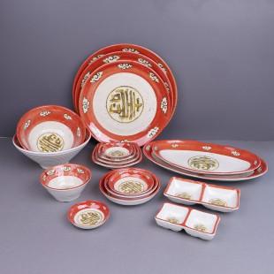 KDS 돌산 청운 시리즈 업소용 멜라민 접시 짬뽕 짜장 그릇