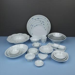 유포 달개비 시리즈 멜라민 그릇 접시 대접 탕기 식당 그릇