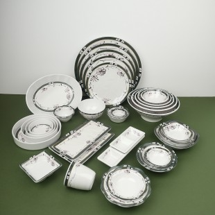 YK 유포 해모수 시리즈 식당용 멜라민 그릇 접시 대접 탕기